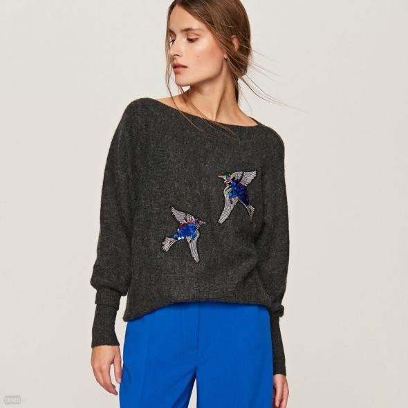 Sweter Reserved z aplikacją...