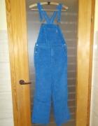 Spodnie z szelkami sztruksowe