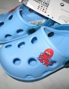 MUST HAVE niebieskie buty do ogrodu roz 24