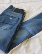 Jasne spodnie jeansy armani s