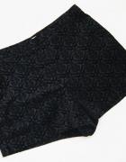 forever21 czarne krótkie spodenki szorty wzorzyste
