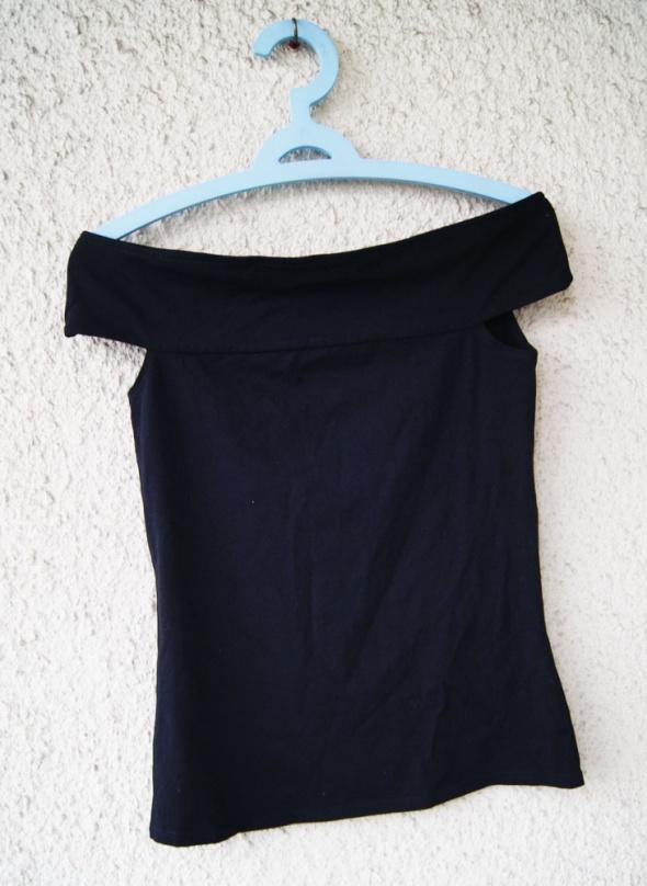 george czarna bluzka top odkryte ramiona rozmiar 38