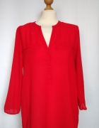 Delikatna czerwona koszula bluzka Atmosphere