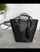Zara nowa torebka czarna kuferek frędzel tote shopper...