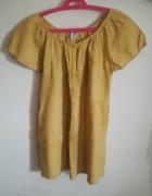 Żółta tunika krótki rękaw Jacqueline Riu oversize