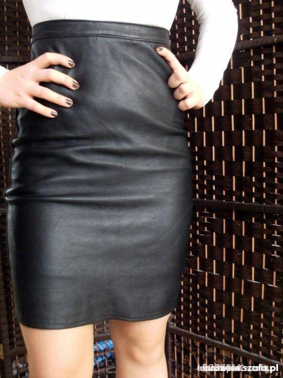 czarna ala skórzana spódnica