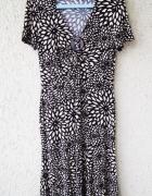 j taylor wzorzysta sukienka z krótkim rękawem