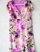 marks spencer letnia wzorzysta sukienka w kwiaty