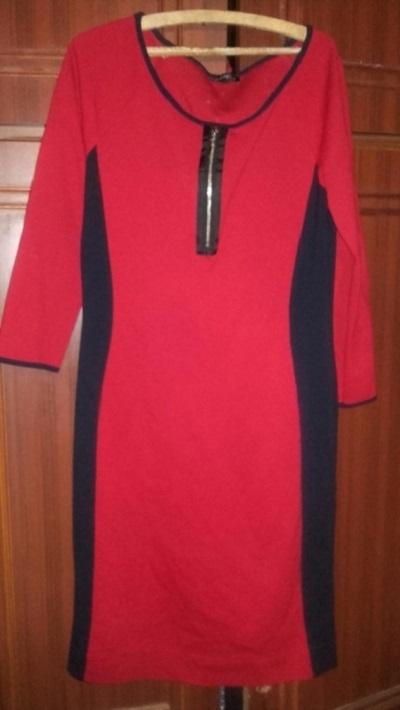 Sukienka czerwona zip Xl