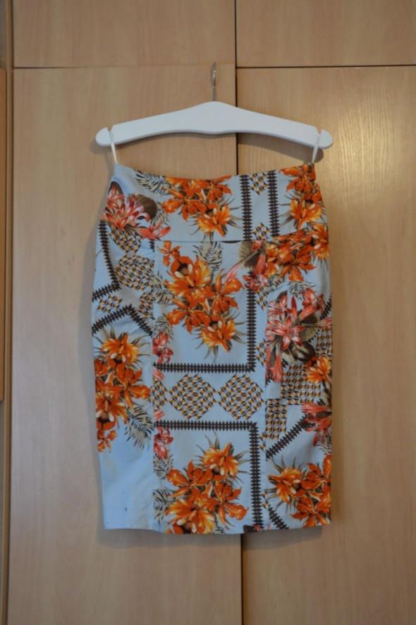 Spódnice ołowkowa spódnica kwiaty