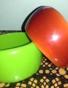 Kolorowe bransoletki zielona i pomarańczowa