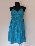 Topshop sukienka turkus 36
