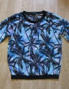 Zwiewna bluzka mgiełka palmy