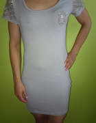 Melanż sukienka sweterkowa
