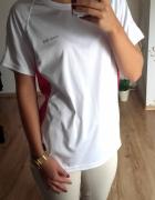sportowa koszulka tshirt różowo biała XL