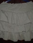 Szara dresowa spódnica rozmiar M falbanki