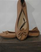 Mohito nowe baleriny z nat skóry camel 37