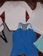 Bluzka mięta Nike biała komplet M...