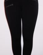 Czarne spodnie rurki skinny zip zamki Mango xs s