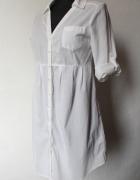 Biała długa koszula szmizjerka r S