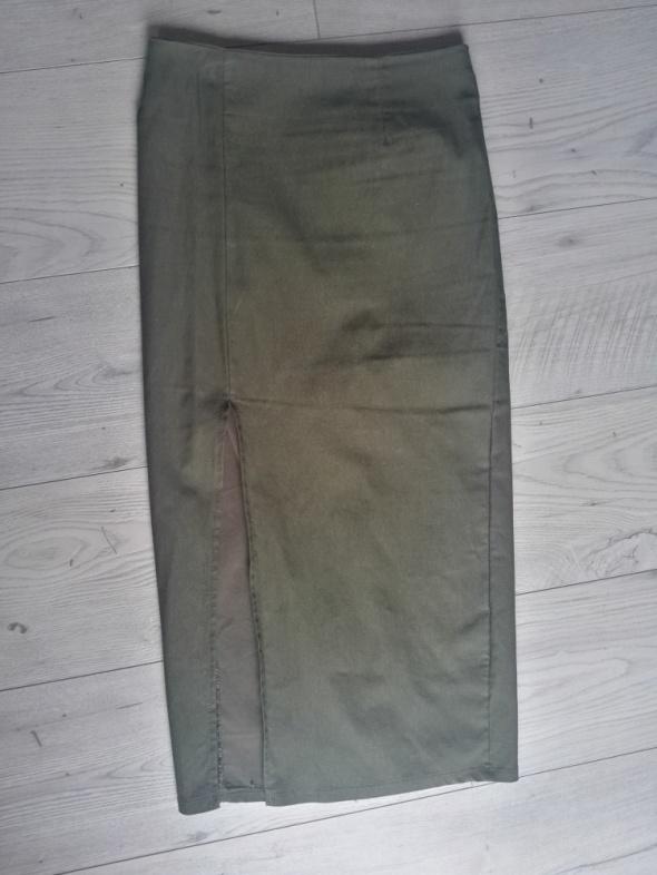 Spódnice Spódnica tuba seksowna oliwkowa Naked Wardrobe rS