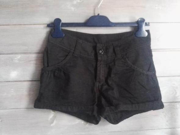 Spodenki szorty czarne H&M bawełna r S...