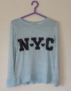 niebieski sweterek H&M