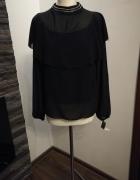 Elegancka bluzka czarna zdobienie