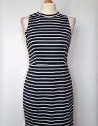 Ołówkowa marynarska sukienka w paski tuba Glamorous