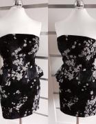 Sukienka z baskinką XS...