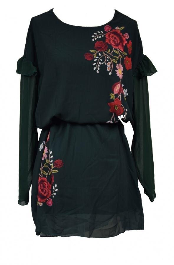 Suknie i sukienki sukienka w piękne kwiaty