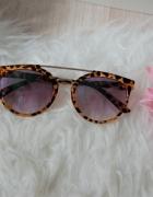 Okulary przeciwsłoneczne cat eye panterka...