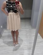 zwiewna lekka sukienka wesele studniowka