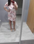 sukienka 38 zwiewna na co dzien w kwiaty