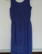 Kobaltowa sukienka na wesele bal imprezę 38