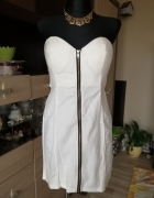 Biała Sukienka Zip...