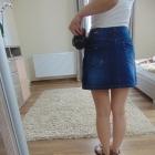 Stradivarius 34 XS spódniczka jeansowa dziury