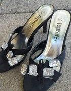 Eleganckie klapki na obcasie szpilki Jennifer r 37...