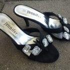 Eleganckie klapki na obcasie szpilki Jennifer r 37