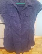 Sprzedam koszule House granatową w drobne kropeczki białe...