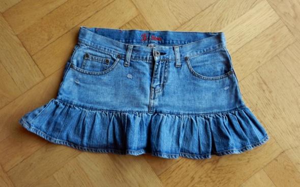 Spódnice Sexy jeansowa spódnica z falbaną Fishbone
