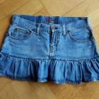 Sexy jeansowa spódnica z falbaną Fishbone