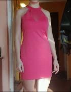 rózowa sukienka S