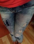 Rurki przetarcia jasny jeans...
