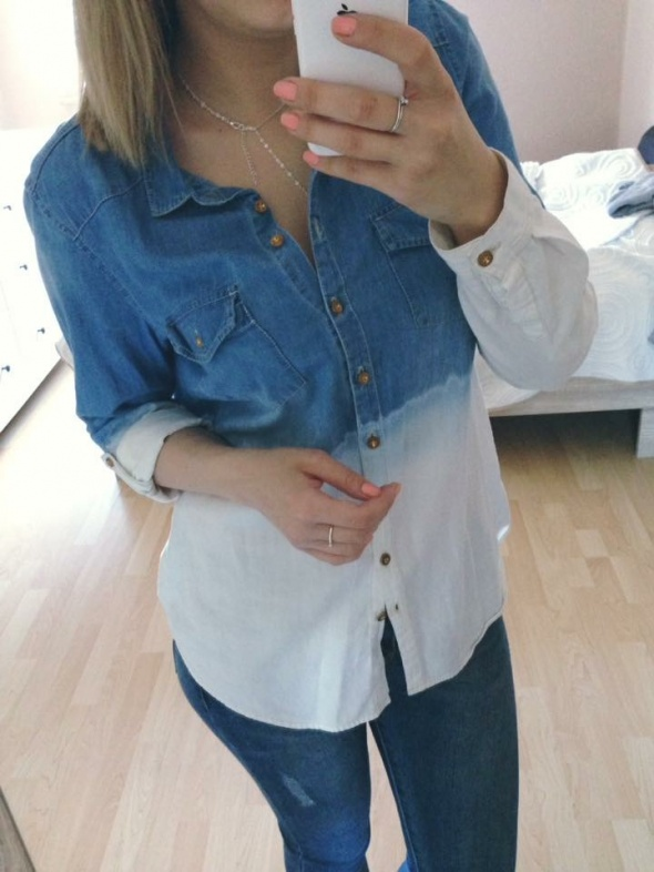 Koszula ombre jeans