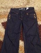 Dżinsy spodnie jeansowe M szerokie nogawki...