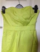 Imprezowa sukienka neonowa zieleń S M 36 38...