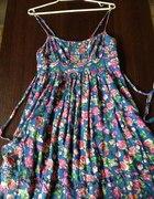 Letnia kolorowa sukienka M 38 neew look...