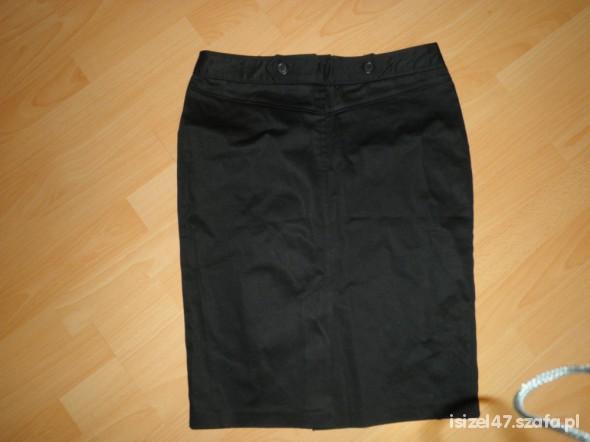 Spódnice Czarna spódnica BAY 10 bawełna z laycrą