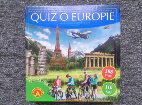Zabawki Quiz o Europie gra planszowa